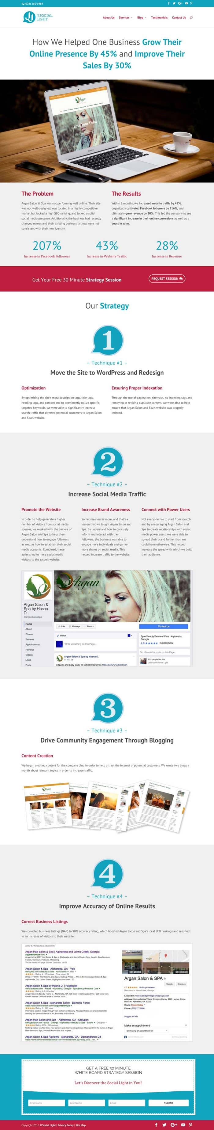Lead Page & Website Design — Atlanta, GA