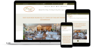 custom website for furniture store