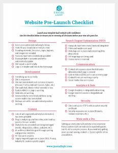 website prelaunch checklist page