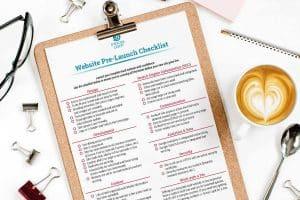 website pre-launch checklist
