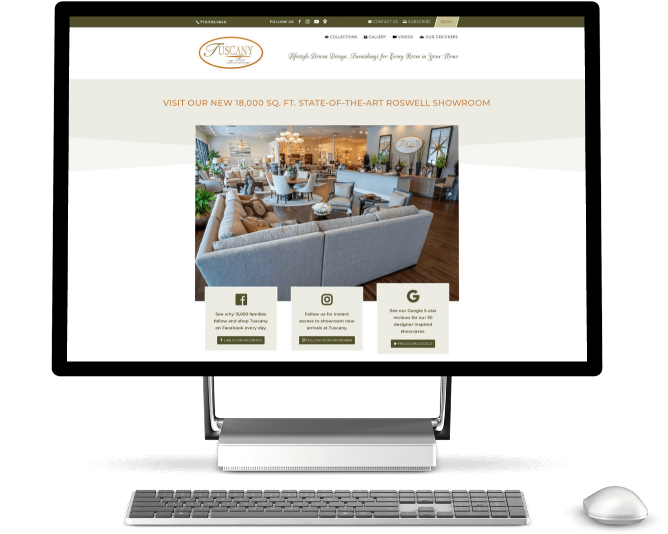 atlanta furniture store web design case study