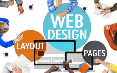 Team designing a webpage