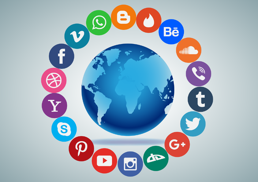The world of social media broken down into icons