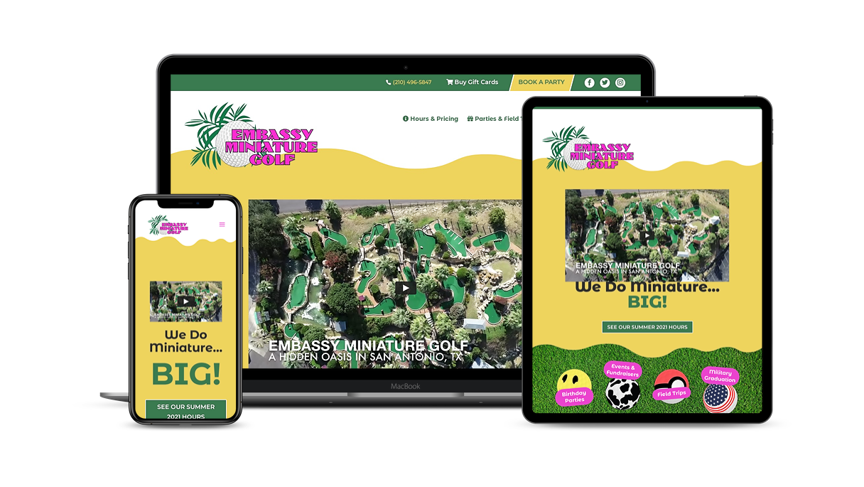 miniature golf website design