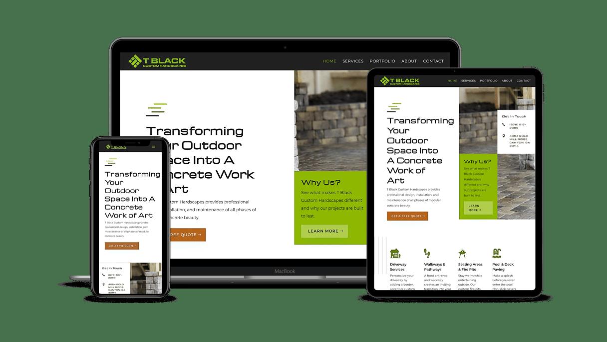 template website design canton, ga