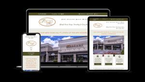 custom website for furniture showroom