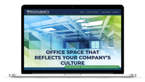 website design for office space leasing company