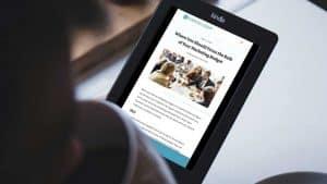 digital marketing article on a Kindle